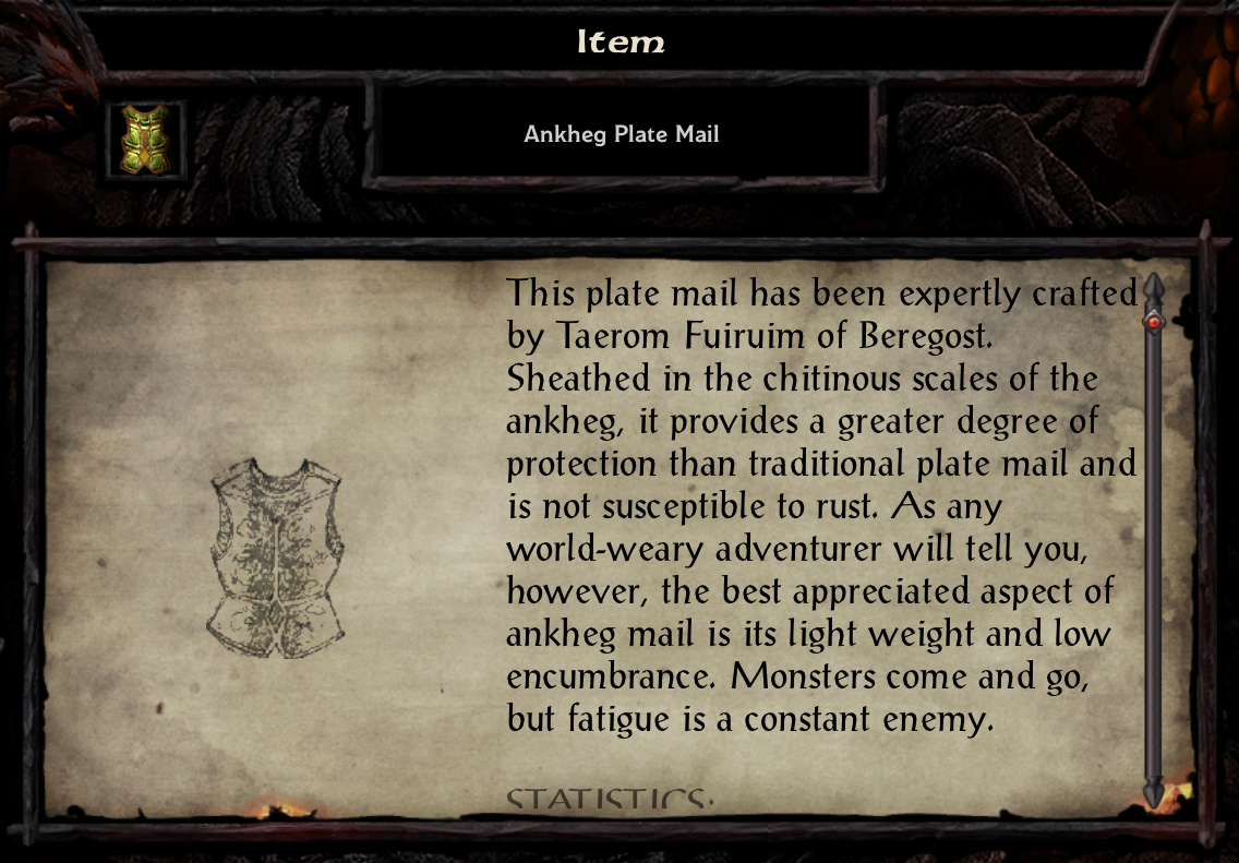 Ankheg Plate Mail