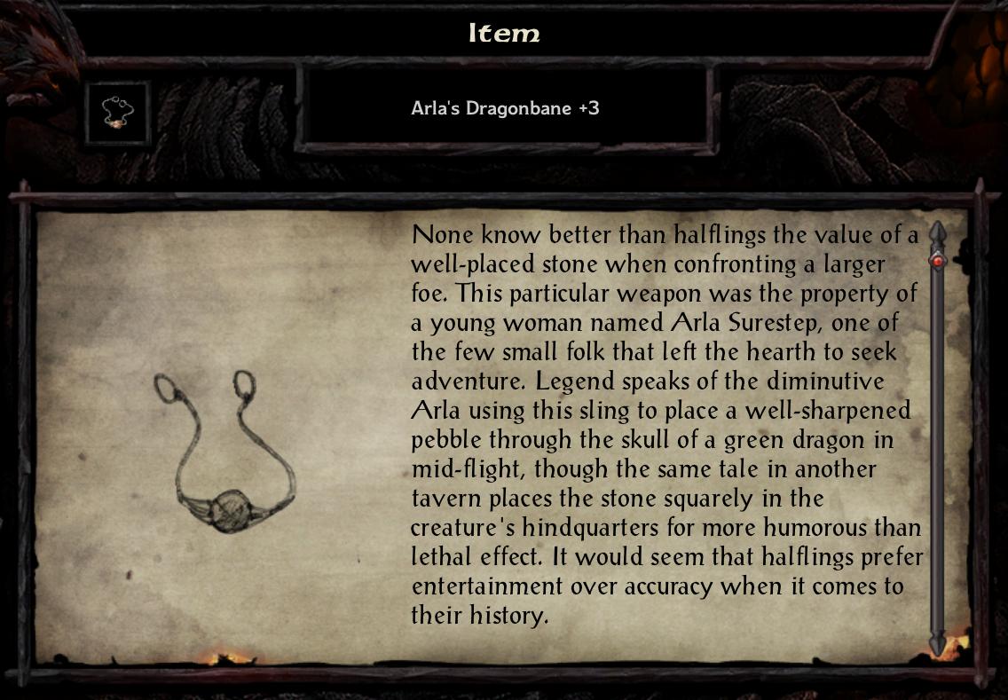 Arla's Dragonbane +3