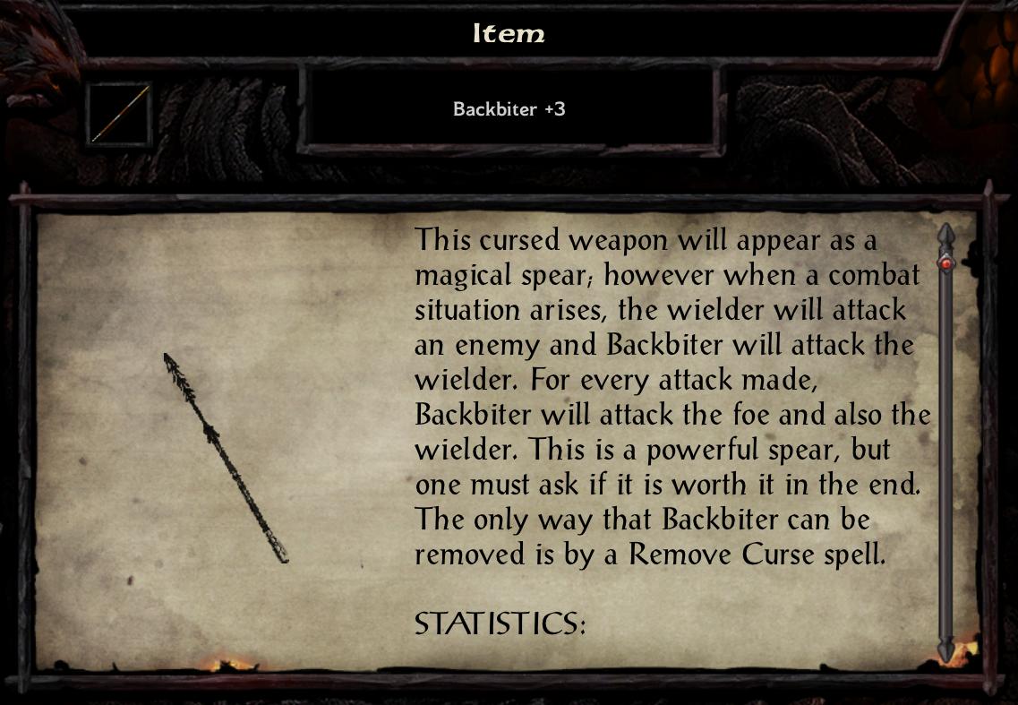 Backbiter +3