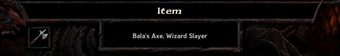 Bala's Axe header