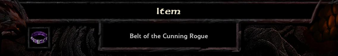Belt of the Cunning Rogue header
