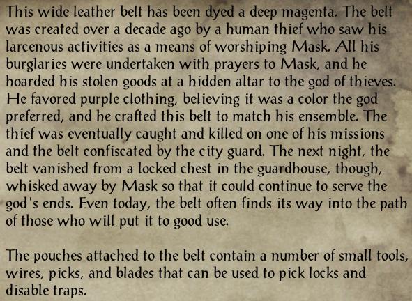 Belt of the Cunning Rogue