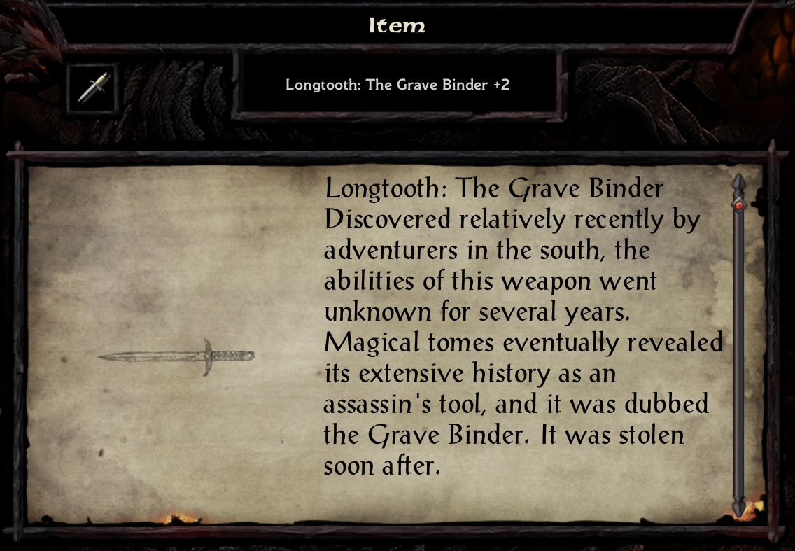 Longtooth: The Grave Binder +2