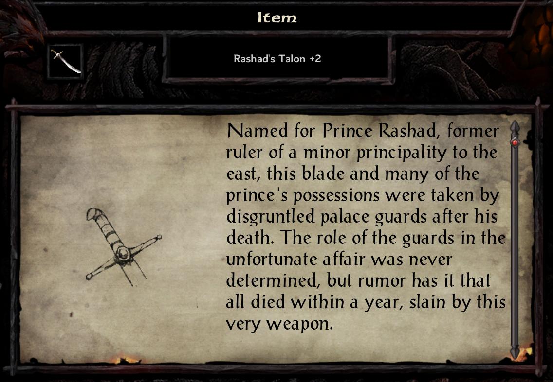 Rashad's Talon +2