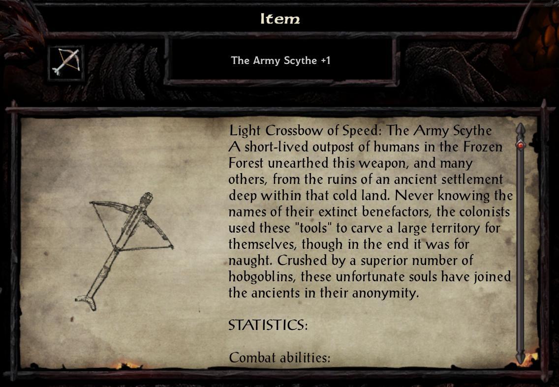 The Army Scythe +1