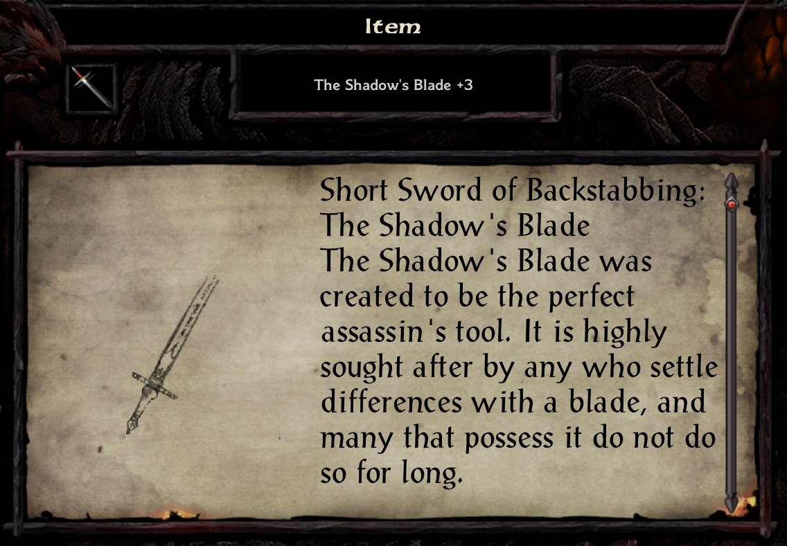 The Shadow's Blade +3