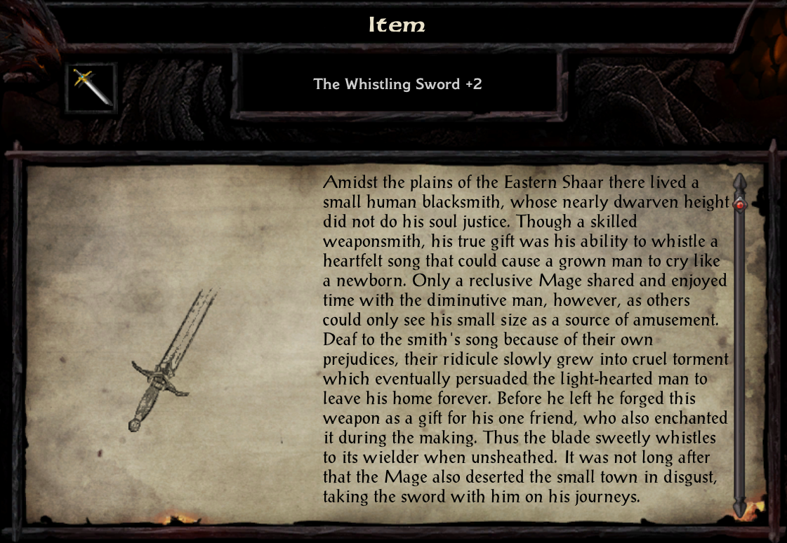 The Whistling Sword +2
