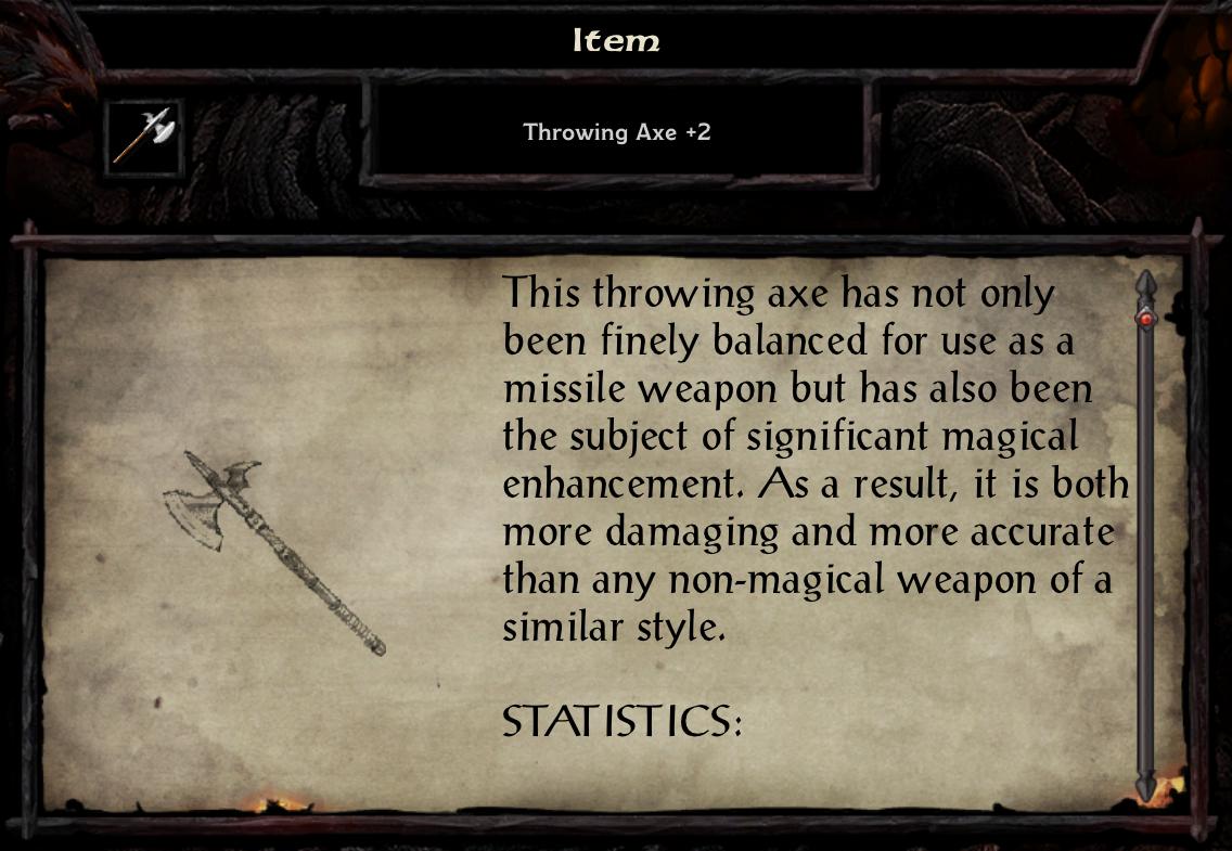 Throwing Axe +2