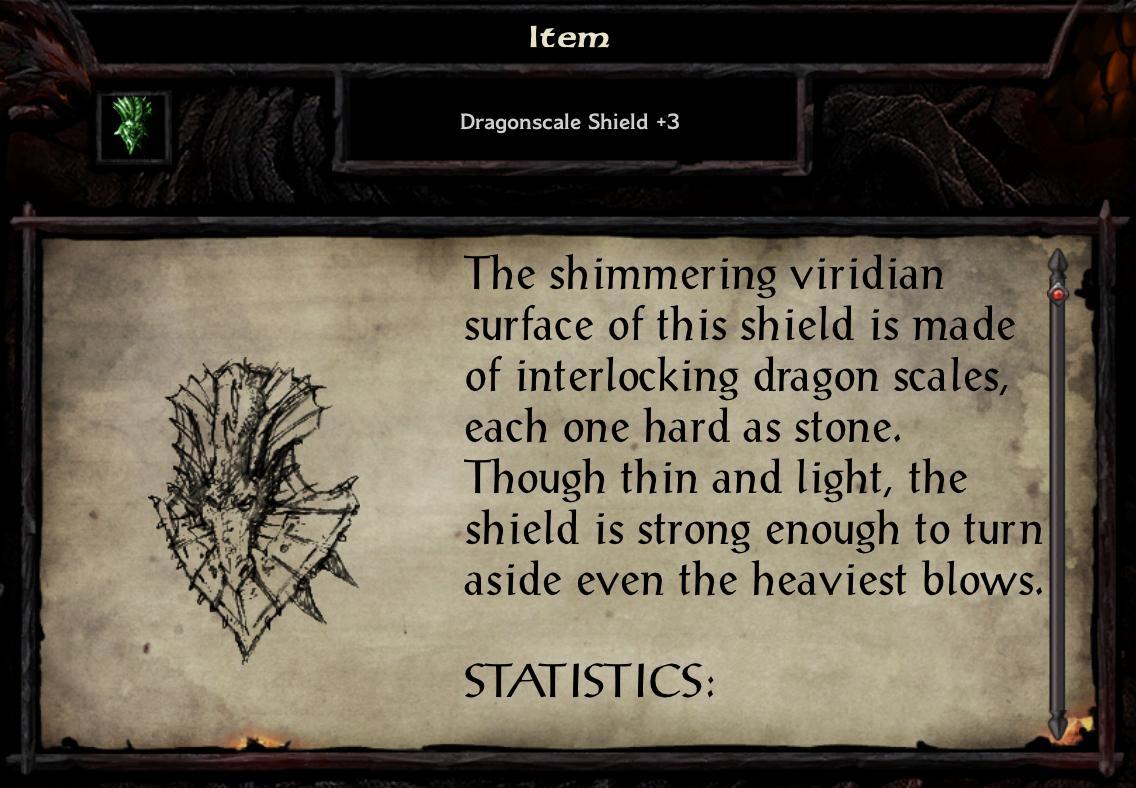 Dragonscale Shield +3