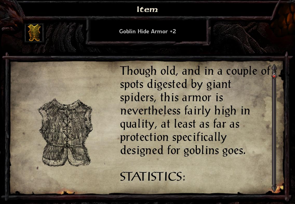 Goblin Hide Armor +2