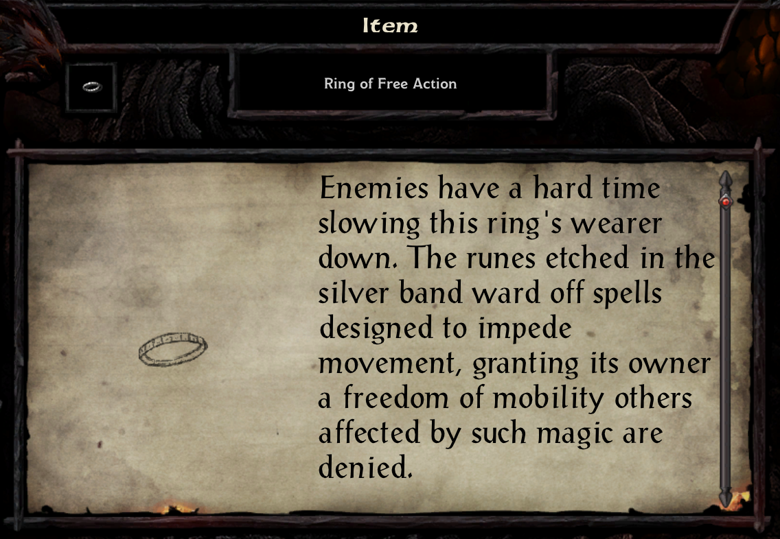 Ring of Free Action