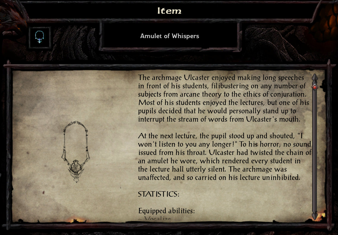 amulet of whispers